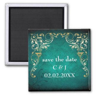 königliche Save the Date Magneten des rustikalen A