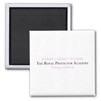 Königliche Schutz-Akademie - Autorn-Magnet Quadratischer Magnet