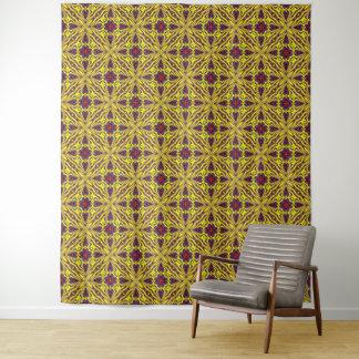 Königliche Vintage Kaleidoskop-Wand-Tapisserie Wandteppich