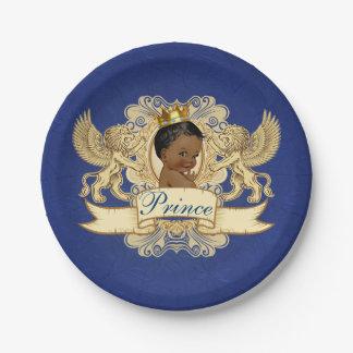 Königlicher afrikanischer Baby-Duschen-Teller Pappteller