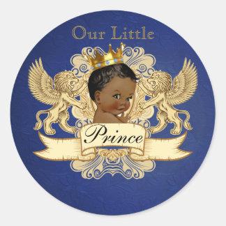 Königlicher afrikanischer Prinz Elegant Favor Runder Aufkleber