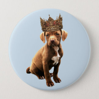 königlicher Hund #1 Runder Button 10,2 Cm