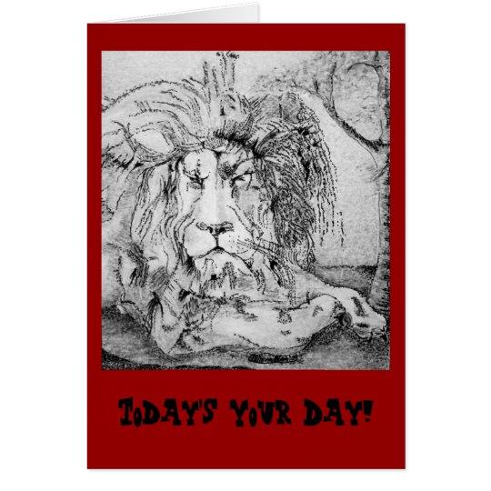 Königlicher Löwe-Geburtstag Grußkarte