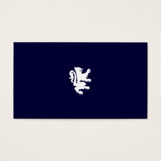 KÖNIGLICHER LÖWE im MITTERNACHTSblau Visitenkarte