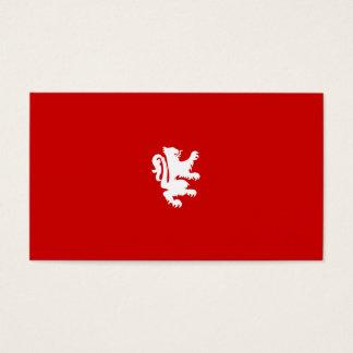 KÖNIGLICHER LÖWE in RED/WHITE Visitenkarte
