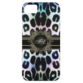 Königlicher Regenbogen-Leopard personalisierter iPhone 5 Etuis
