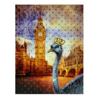 Königlicher Strauß in London Postkarte