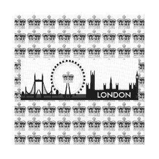 Königliches ausgedehnte Leinwand Kronen-Londons