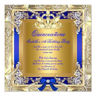 Königliches Blau-Silber-Party Quadratische 13,3 Cm Einladungskarte