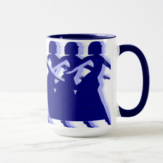 Königliches Blau-Tänzer-Tasse Tasse