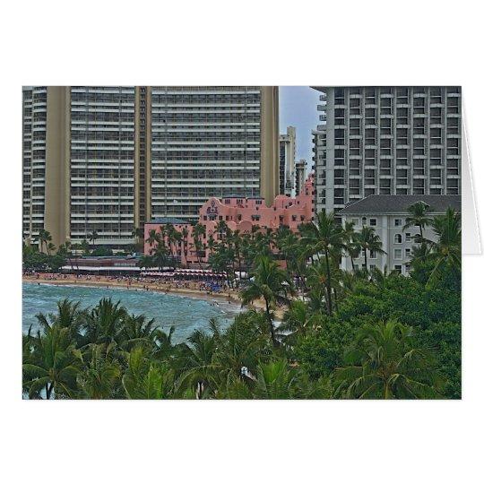 Königliches hawaiisches Hotel Mitteilungskarte