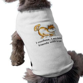 Königliches Katzen-Hundet-shirt Top