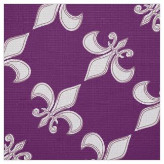Königliches lila Muster der Lilie Stoff