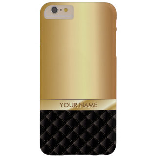 Königliches Luxusgoldindividueller Name iPhone Barely There iPhone 6 Plus Hülle