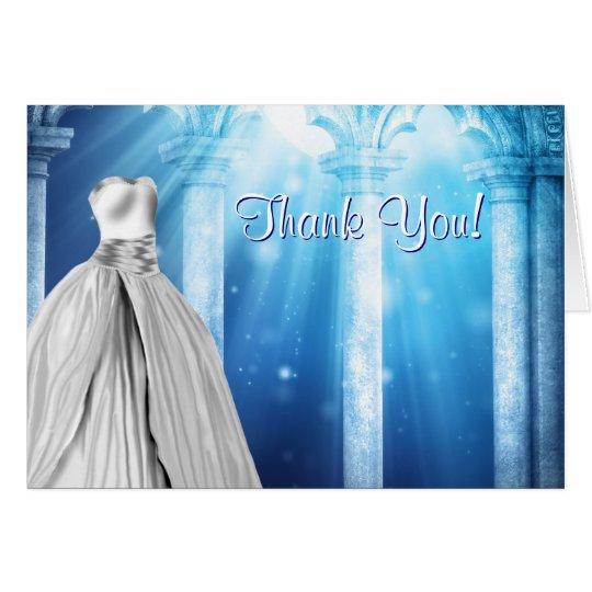 Königliches Marine-Blau-Kleid danken Ihnen Karten