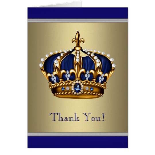 Königliches Marine-Blau und Gold danken Ihnen Karte