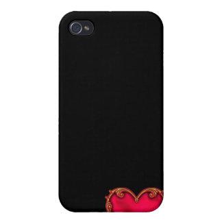 Königliches rotes Herz iPhone 4 Case
