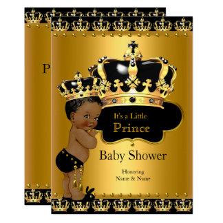 Königliches Schwarz-Gold Prinz-Babyparty ethnisch Karte