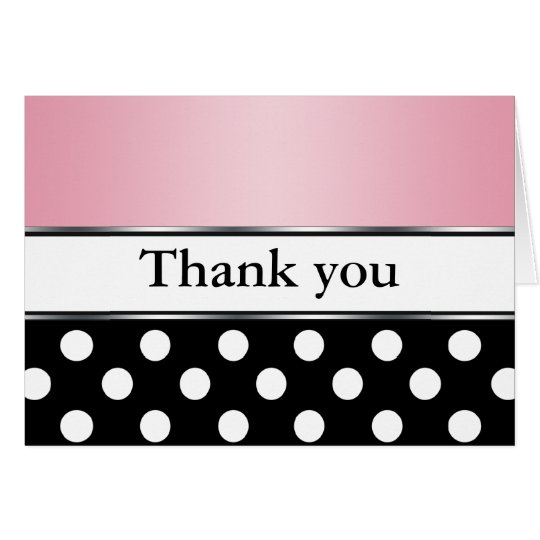 Königliches schwarzes Tupfen-Rosa danken Ihnen Karte
