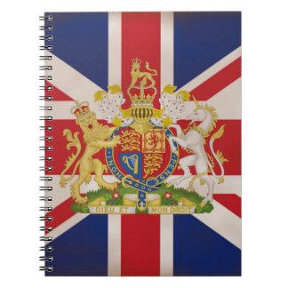 Königliches Wappen auf Gewerkschaft Jack Spiral Notizblock