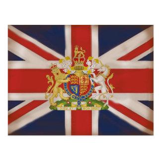 Königliches Wappen auf Gewerkschafts-Jack-Flagge Postkarte