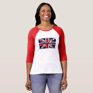 Königreich-Flagge färbt mutige Druck-Dame T-Shirt