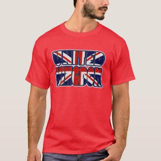 Königreich-Flagge färbt mutigen DruckT - Shirt