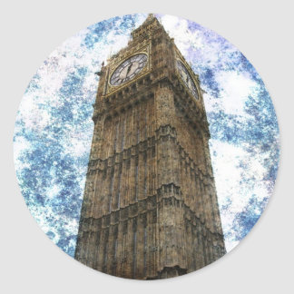Königreich-Häuser des Parlaments London Big Ben Runder Aufkleber