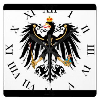 Königreich Preussen Nationalfahne Quadratische Wanduhr