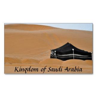Königreich-Saudi-Arabien schwarzer Zelt-Magnet Visitenkartenmagnet