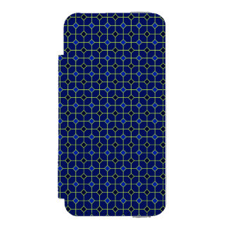 Königsblau-antiker Fliesen-Entwurfs-Fall Incipio Watson™ iPhone 5 Geldbörsen Hülle