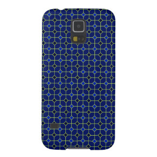 Königsblau-antiker Fliesen-Entwurfs-Fall Samsung Galaxy S5 Hüllen