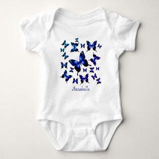 Königsblau-elegante wunderliche Schmetterlinge Baby Strampler