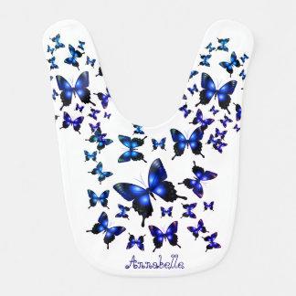 Königsblau-elegante wunderliche Schmetterlinge Babylätzchen