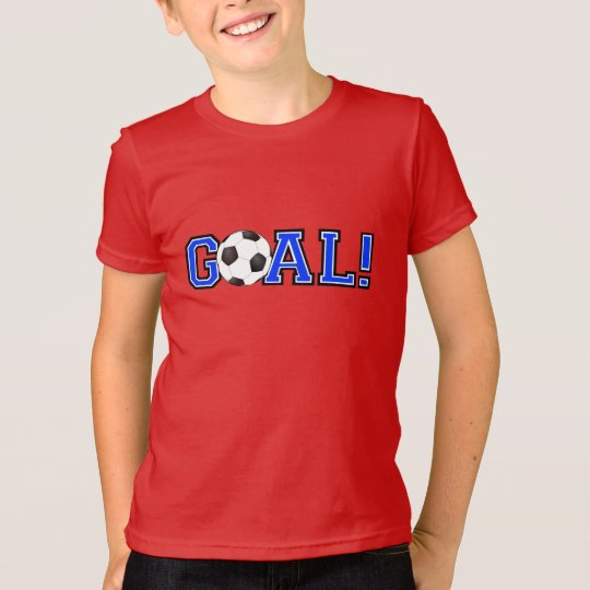 Königsblau-Fußball-Ziel T-Shirt