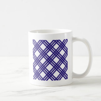 Königsblau-Gitter Kaffeetasse