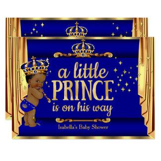 Königsblau-Gold drapiert Prinzen die ethnische Karte