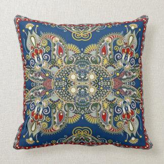 Königsblau-orientalischer Entwurf Kissen