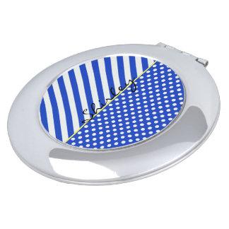 Königsblau-Tupfen und Streifen durch ShirleyTaylor Schminkspiegel