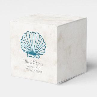 Königsblaurustikale Seashell-Hochzeit Geschenkschachtel