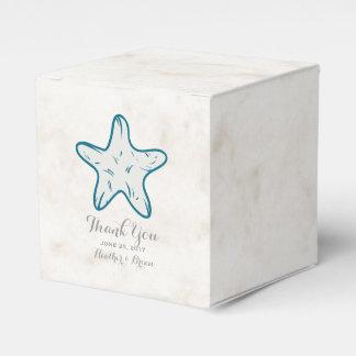 Königsblaurustikale Starfish-Hochzeit Geschenkschachtel