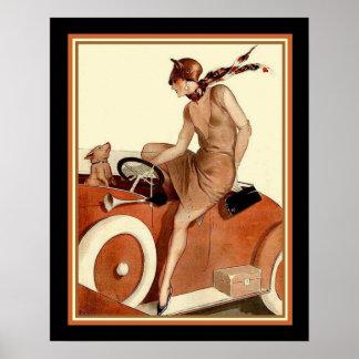 Konkurrieren Sie Parisienne Kunst-Deko-Druck 16 x Poster