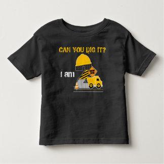 Können Sie es graben? Bau-Geburtstags-Shirt Kleinkind T-shirt
