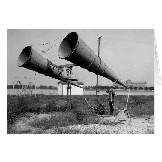 Können Sie mich jetzt hören? 1921 Grußkarte
