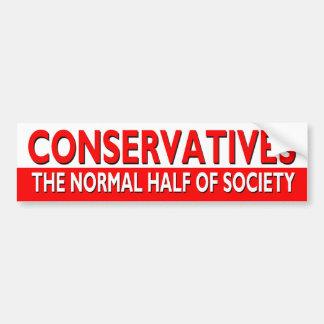 Konservative - die normale Hälfte der Gesellschaft Autoaufkleber
