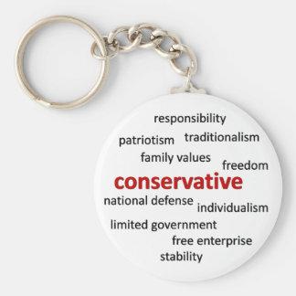 Konservative Philosophie und Werte Schlüsselanhänger