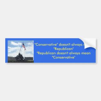Konservativer oder Republikaner Autoaufkleber