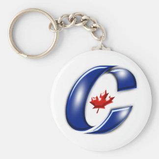 Konservatives Party politischer Waren Kanadas Standard Runder Schlüsselanhänger