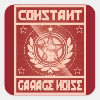 Konstante Garagen-Geräusch-Aufkleber Quadratischer Aufkleber