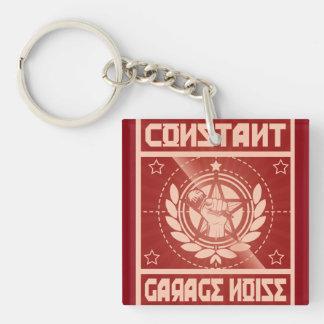 Konstante Garagen-Geräusche Keychain Einseitiger Quadratischer Acryl Schlüsselanhänger